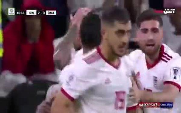 گل دوم ایران به عمان در یک هشتم نهایی جام ملت ها
