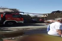 آتش سوزی انبار در خیابان فداییان اسلام