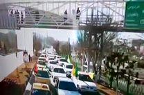 راهپیمایی موتوری و خودرویی ۲۲ بهمن در آذربایجان شرقی برگزار شد
