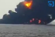 فیلم غرق شدن نفتکش سانچی در اقیانوس آرام