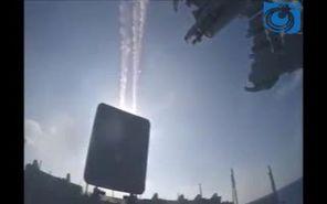 حمله به مقرهای تروریست های داعش در نزدیک دیرالزور سوریه توسط ناوگان نیروی دریایی روسیه