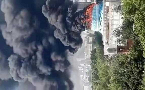 فیلم آتش سوزی در مرکز فرماندهی نیروی انتظامی