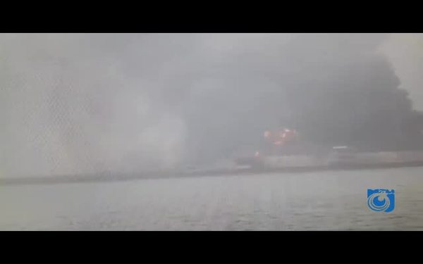 فیلم آتش سوزی نفتکش ایرانی در کشور چین منتشر شد