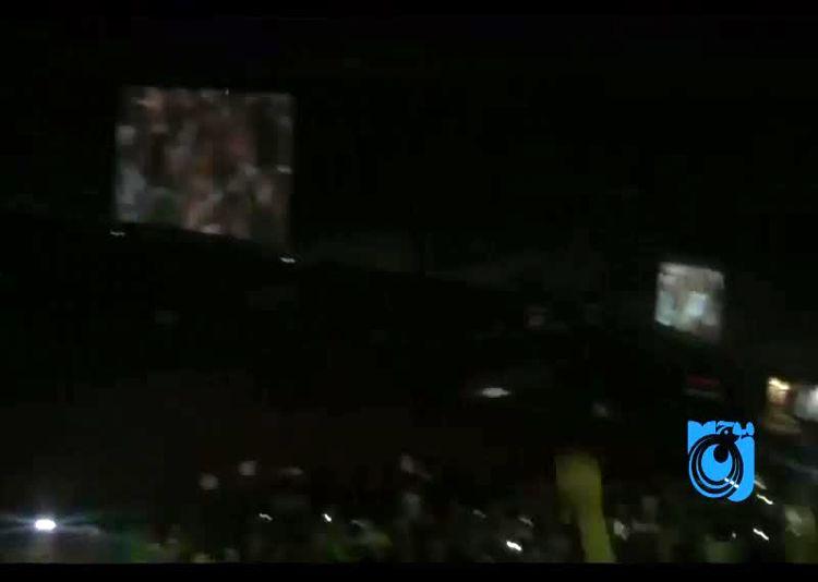 شادی گل تماشاگران در استادیوم آزادی پس از گل ایران به پرتغال در جام جهانی 2018 روسیه