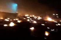 تصاویر اولیه از حریق هواپیمای اوکراینی در منطقه شهریار