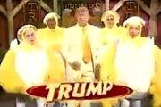 حضور ترامپ در کنار رقصندههایی با لباس مرغ