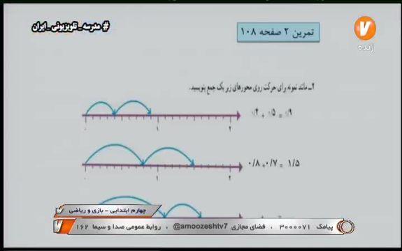 فیلم تدریس بازی و ریاضی چهارم ابتدایی شبکه آموزش در 21 اسفند