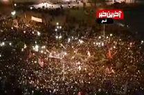 فیلم تصویر هوایی از حضور بی نظیر مردم قم در تشییع پیکر شهید سلیمانی