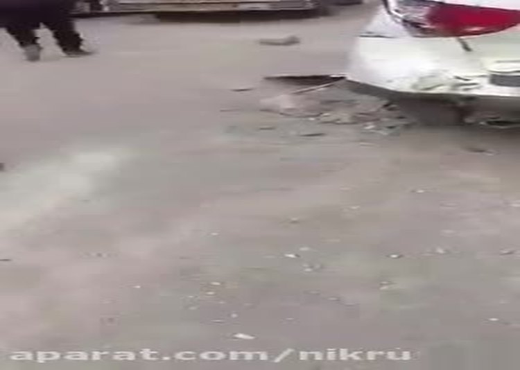 زیر گرفتن ماموران پلیس توسط راننده نیسان