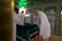 فیلم وداع حجت الاسلام رییسی با آستان قدس رضوی