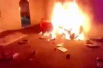 فیلم تعرض اغتشاشگران به کنسولگری ایران در نجف